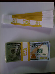 10 000 Self sealing Currency Bands 10 000 Denomination Straps Money 100 s
