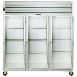 Traulsen G32012 3 Section Glass Door Reach in Display Refrigerator Hinged Right