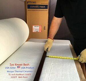 Kaowool Thermal Ceramics Fiber Insulation Blanket 1 2 x24 x48 8 Muffler Stove