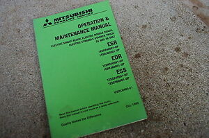 Mitsubishi Electric Esr Sdr Ess Forklift Owner Operator Maintenance Manual 1995