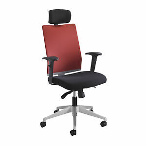 Tez Manager Chair With Headrest Red 1 Ea