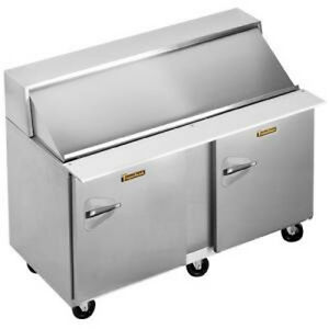 Traulsen Upt6012 rr sb Stainless Steel 60 Refrigerated Counter Hinged Right