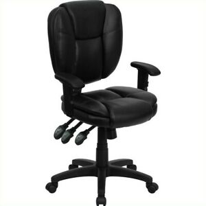 Flash Furniture Mid Back Ergonomic Task Office Chair With Arms In Black