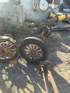 Old Vintage Wooden Spoke Wheels Rear Durant Star Model A T Tire Car Wagon Coach