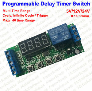 Led Programmable Adjustable On Off Cycle Timer Trigger Control Switch Module