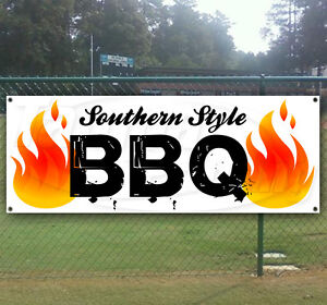Southern Style Bbq Advertising Vinyl Banner Flag Sign Many Sizes Available Usa