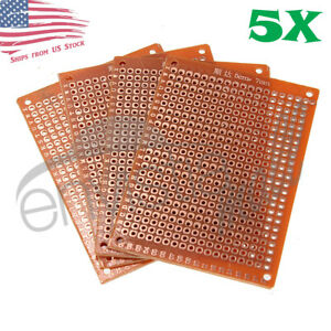 5pcs 5cm X 7cm 2x3in Pcb Prototyping Perf Boards Breadboards Diy Us