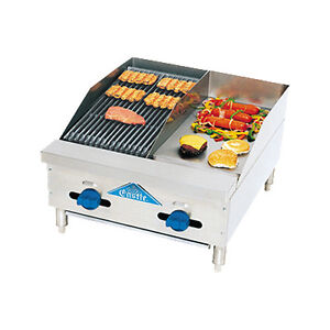 Comstock Castle Fhp24 12 1lb 24 Gas Griddle And Charbroiler Lava Rock Radiants