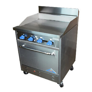 Comstock Castle F326 30 30 Gas Restaurant Range Griddle With Manual Controls