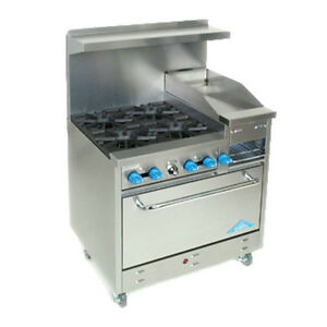 Comstock Castle F330 12b 36 Gas Restaurant Range With Griddle broiler