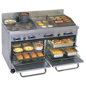 Comstock Castle F3226 18 1 5rb 60 Gas Restaurant Range Griddle charbroiler