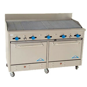 Comstock Castle F3226 5rb 60 Gas Restaurant Range With Charbroiler