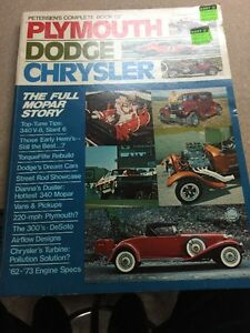 Peterson S Complete Book Of Plymouth Dodge Chrysler Vintage Car Book 1973