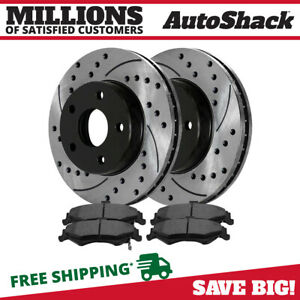 Rear Drilled Slotted Brake Rotors Ceramic Pads For 1998 2002 Pontiac Firebird