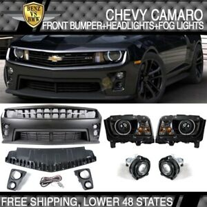 Fit 10 13 Camaro Zl1 Front Conversion Bumper Cover ccfl Halo Projector Headlight