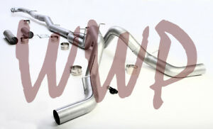 Dual 5 Down Pipe Back Exhaust Kit 15 5 17 Chevy Gmc 2500 3500 6 6l Turbo Diesel