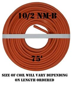 10 2 Nm b 75 romex Non metallic Jacket Copper Electrical Cable 3 Wire