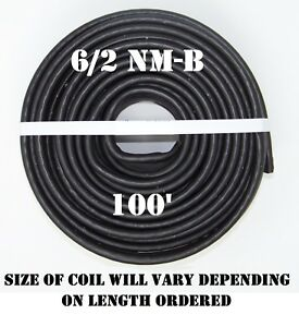 6 2 Nm b 100 romex Non metallic Jacket Copper Electrical Cable 3 Wire