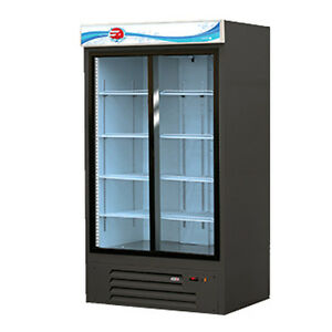 Fagor Fmd 35 sd Two Section Merchandiser Refrigerator With Sliding Glass Doors