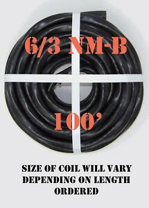 6 3 Nm b 100 romex Non metallic Jacket Copper Electrical Cable 4 Wire