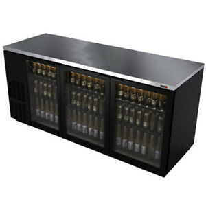 Fagor Fbb 79g 80 Refrigerated Back Bar Cabinet With 3 Glass Doors
