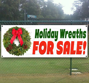 Holiday Wreaths For Sale Advertising Vinyl Banner Flag Sign Many Sizes Available