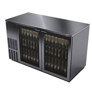 Fagor Fbb 59gs 59 5 Stainless Steel Refrigerated Back Bar Cabinet 2 Glass Doors