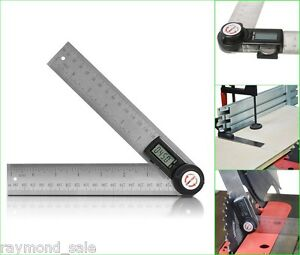 Gemred Digital Protractor 200mm 2 In1 Angle Finder 7 Inch Guage Meter Goniomete