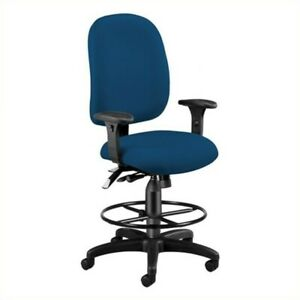 Ofm Ergonomic Task Drafting Office Chair With Drafting Kit In Navy