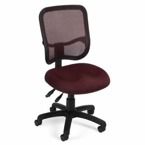 Ofm Mesh Comfort Series Ergonomic Task Office Chair Chairs In Wine
