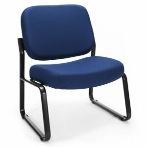 Ofm Big And Tall Upholstered Guest Reception Chair In Navy