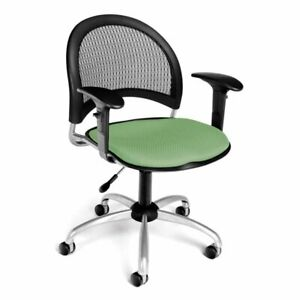 Ofm Moon Fabric Swivel Office Chair In Sage Green