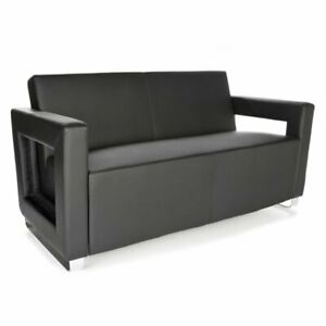 Ofm Distinct Series Soft Seating Sofa Guest Chair In Black