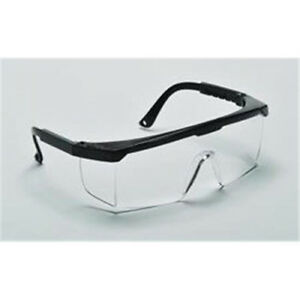 Lot 2 Adjustable Temples Anti scratch Safety Glasses Clear Lens
