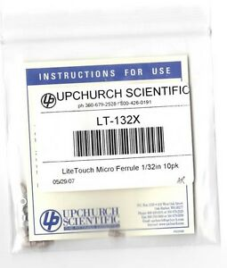 Upchurch Idex Lt 132x Peek Litetouch Ferrule With Ss Lock Ring For 1 32 0 79mm