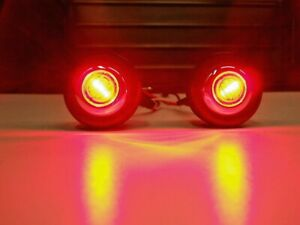1947 Later Chevy Pickup Truck Bed Roll Lights Red Led Brake Turn Tail 49 48 54
