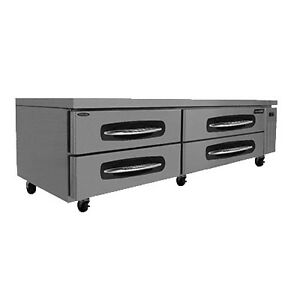 Nor lake Nlcb84 84 Refrigerated Base Equipment Stand 4 Drawers