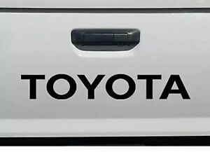 Toyota Black Tailgate Sport Decals Vinyl Stickers 1 Truck Bed 24 Free Shipping