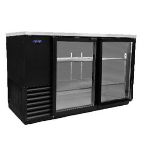 Nor lake Nlbb59 g 59 Two Section Refrigerated Back Bar Cabinet With Glass Doors