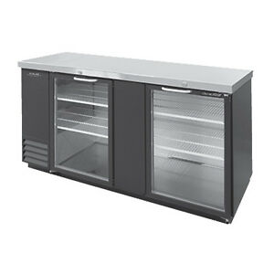 Nor lake Nlbb79 g 79 3 Section Refrigerated Back Bar Cabinet With Glass Doors