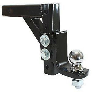 10 Drop Adjustable Trailer Black Dual Ball Mount Hitch Tow