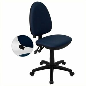 Scranton Co Mid back Task Office Chair In Navy Blue