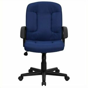 Scranton Co Mid back Office Chair With Nylon Arms In Navy