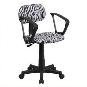 Scranton Co Zebra Print Office Chair In Black And White