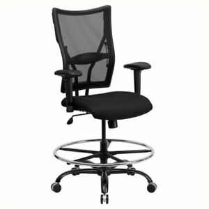 Scranton Co Mesh Drafting Chair With Arms In Black