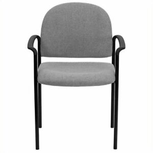 Scranton Co Stackable Side Guest Chair With Arms In Gray