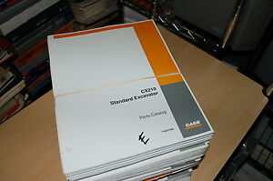 Case Cx210 Standard Crawler Excavator Track Hoe Spare Parts Manual Book Catalog