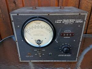 Vintage Television Field Strength Meter Model A 465