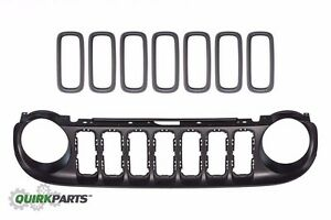 15 17 Jeep Renegade Front Outer Grille With 7 Grille Inserts Oe Mopar Genuine