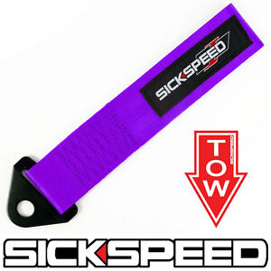 Purple High Strength Racing Tow Strap Sticker For Front Rear Bumper Hook Car P11